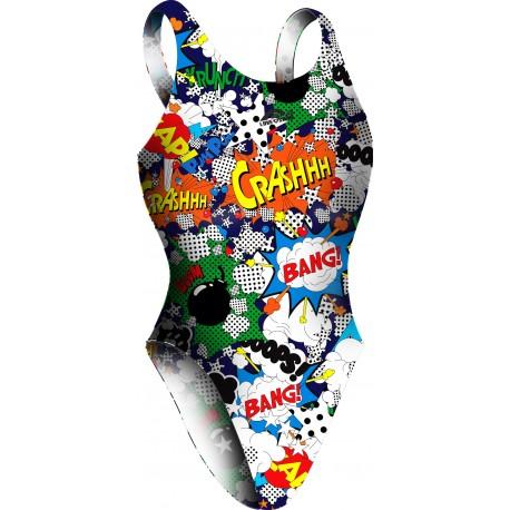 Costume da nuoto Comic. Modello bretella larga.