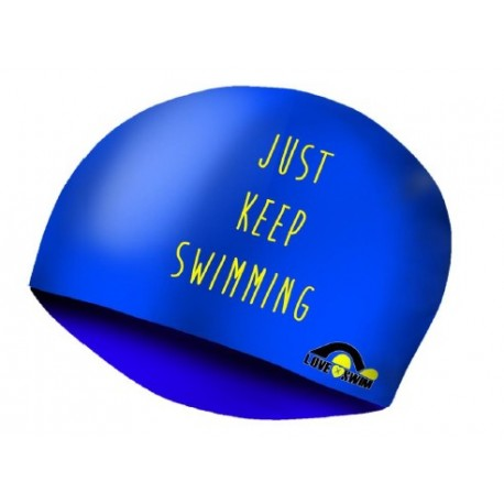 Gorro Lycra Just Keep Swim