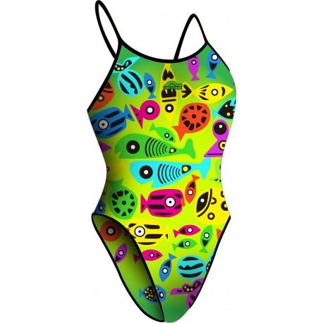 Costume da Nuoto Colorful Fish Lima Modello Bretella Stretta