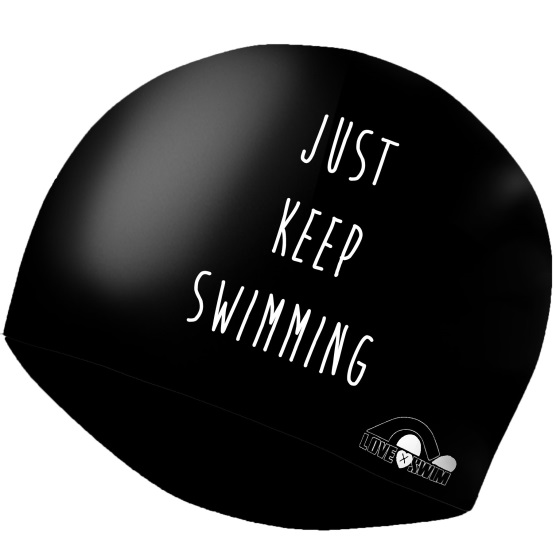 gorro just keep swimming